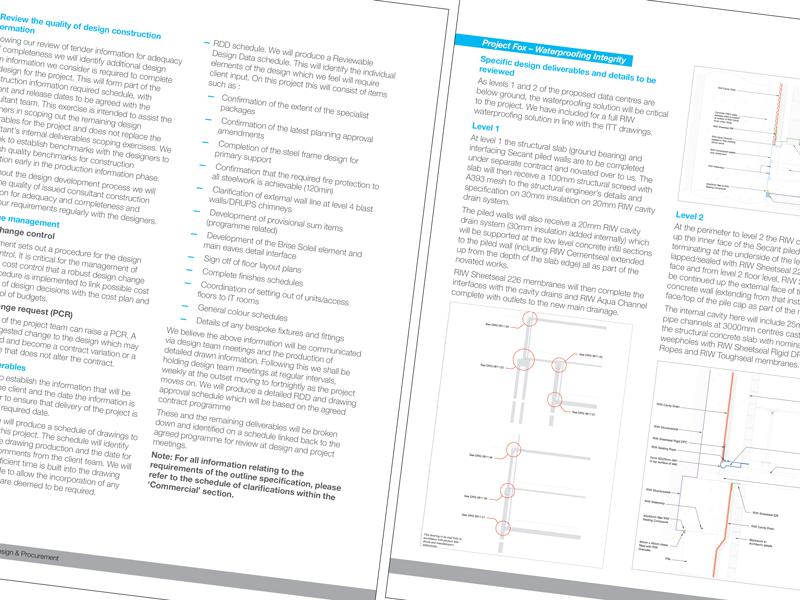 Bid tender document InDesign layout by Freelance Artworker Brighton Sarahjane Jackson