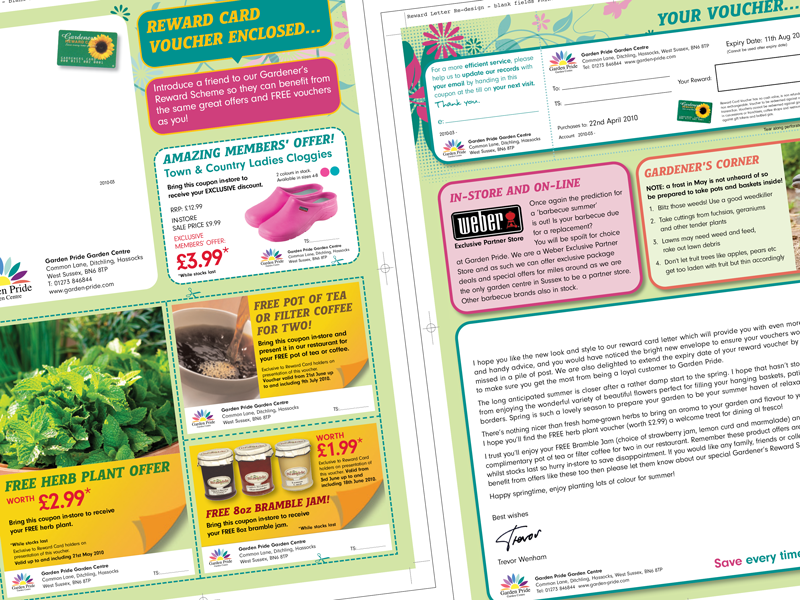 Variable print artwork for garden centres